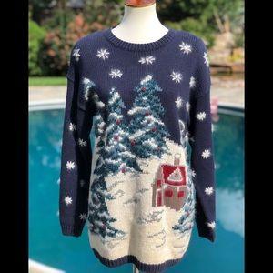 Christopher & Banks Christmas sweater sz S